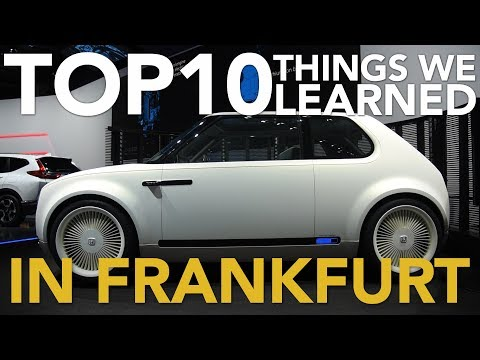 Top 10 Most Interesting Things We Learned at the 2017 Frankfurt Motor Show