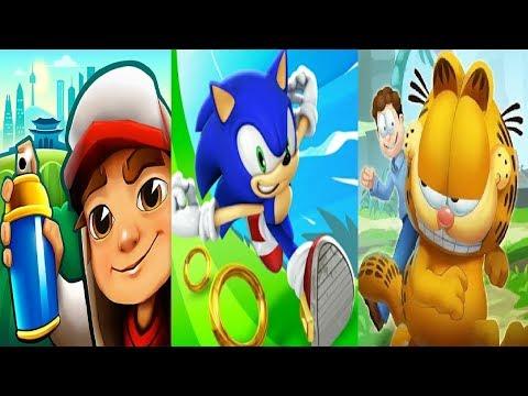Sonic Dash  VS Subway Surfers World Tour 2019 – DUBAI  VS Garfield rush  Gameplay HD
