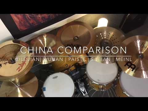 China Cymbal Comparison - Zildjian Oriental | Wuhan | Paiste PST5 | Sabian AA Holy | Meinl Byzance