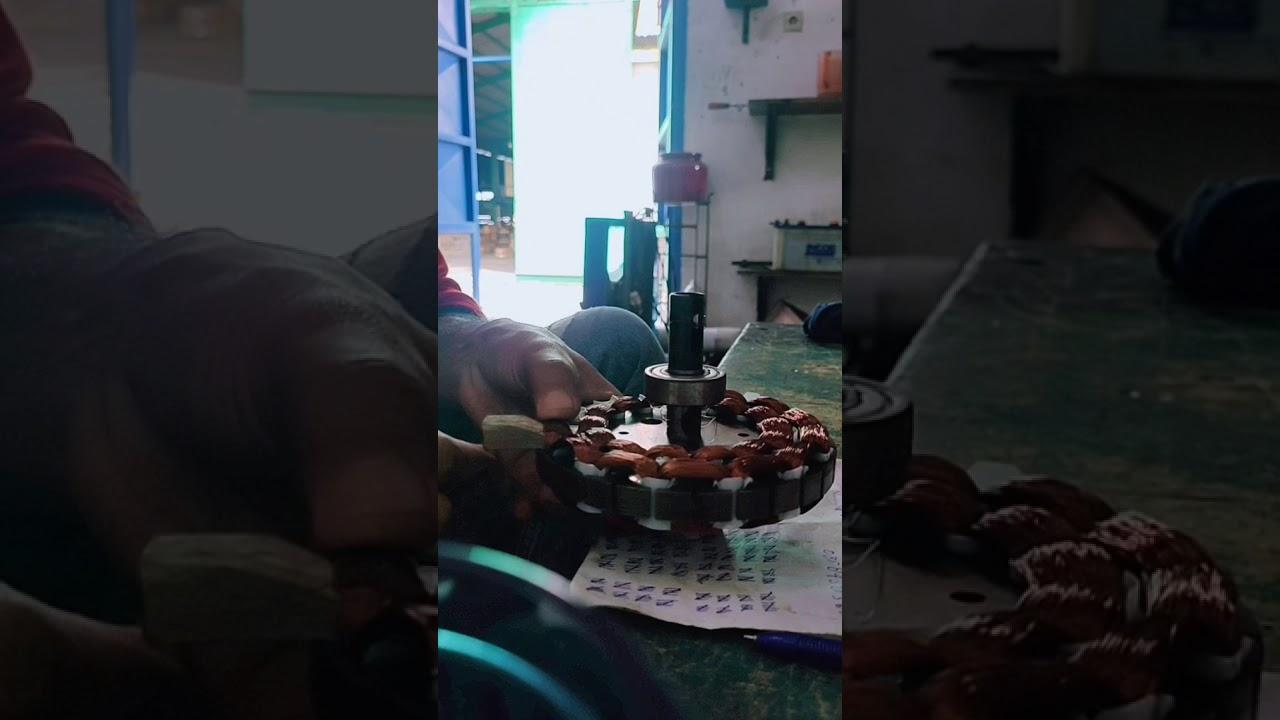 Part 2 Gulung Kipas Angin Gantung  Belajar Gulung Dinamo