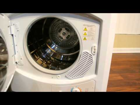 XtremepowerUS Stainless Steel Tumble Dryer 9lbs Portable Compact Dryer Demo