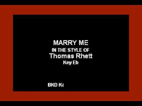 Cover Lagu Thomas Rhett - Marry Me (Karaoke Version) STAFABAND