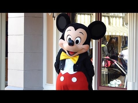 Character Mickey Mouse at Disneyland California 2014