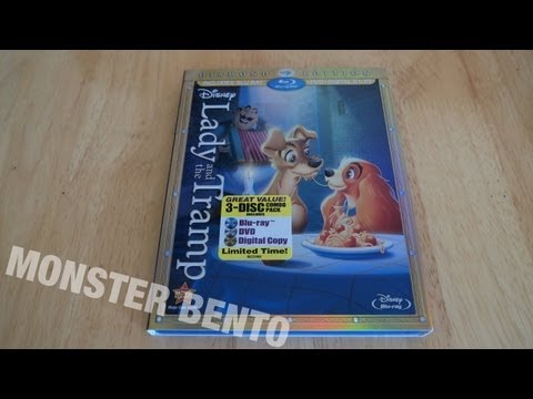 Disney Lady and the Tramp Diamond Edition Blu-ray | DVD | Digital Copy Unboxing & Review