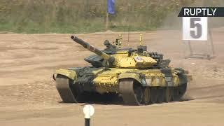 АрМИ-2019: Казахстан, Сирия, Монголия и Венесуэла соревнуются в танковом биатлоне — LIVE
