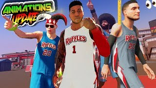 NBA 2K20 Park - Animations Update! / QUAD ARCH At The Ruffles
