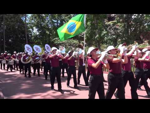 Pembroke Pines Charter High School Band marching in DisneyWorld ...