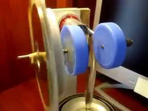 Stirling Engine Gamma cycle with paper made cylinder