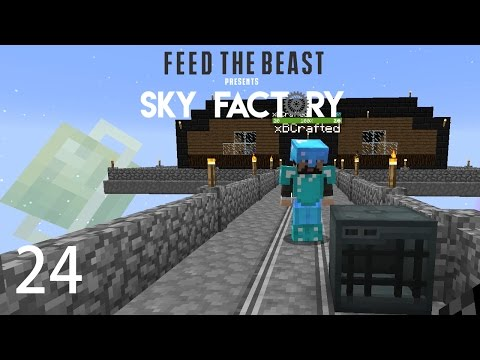 Sky Factory 3 w/ xB - POWERED SPAWNER [E24] (Minecraft Modded Sky Block)