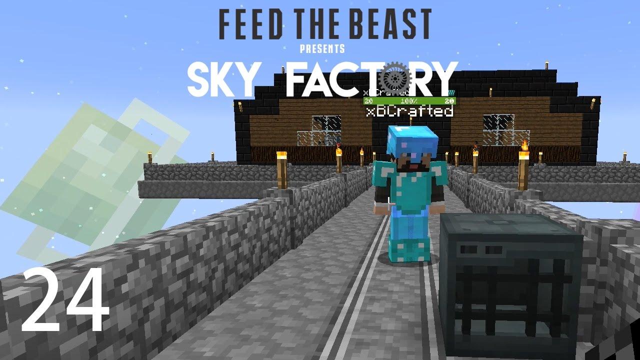 Sky Factory 3 w/ xB - POWERED SPAWNER [E24] (Minecraft Modded Sky