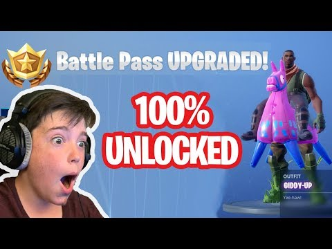 BUYING ALL 100 TIERS..!! ALL UNLOCKED!! - Fortnite Season 6