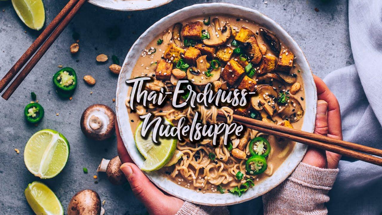 Thai Erdnuss Nudelsuppe Ramen - vegan * Rezept