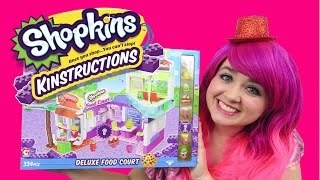 Shopkins Kinstructions Deluxe Food Court | TOY REVIEW | KiMMi THE CLOWN
