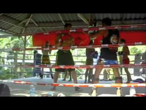 Coach Vik muay thai training