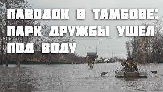 Паводок в Тамбове: парк Дружбы ушёл под воду