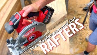 How to Measure aฑd Cut Rafters