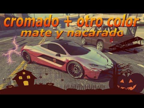 GTA V online CROMADO CON DIFERENTE COLOR MATE CON NACARADO