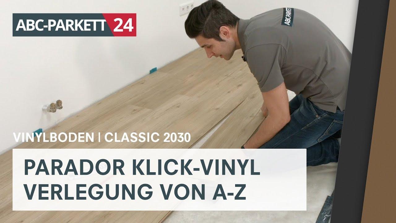 Berühmt PARADOR Klick-Vinyl Classic 2030 auf HDF-Träger richtig verlegen AH23