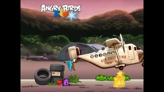 Angry Birds Rio Trophy Room 3 Star Walkthrough