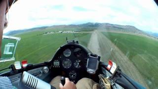 Inside Glider Landing Cedar Valley, Utah