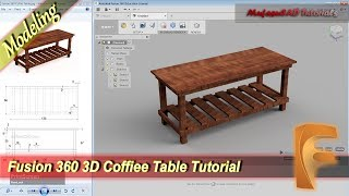 Fusion 360 Design 3D Coffee Table Modeling Tutorial For Beginner