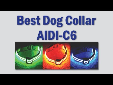 Colorful LED AIDI-C6 Best Dog Collar | BSEEN LED Dog Collar