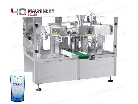 Premade Pouch Fill And Seal Machine For 500ml Oil Stand Up Pouch Filler