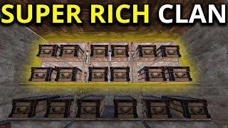 BANKRUPTING SUPER RICH CLAN IN ONLINE RAID 7/7 - Rust Solo/trio Survival Gameplay