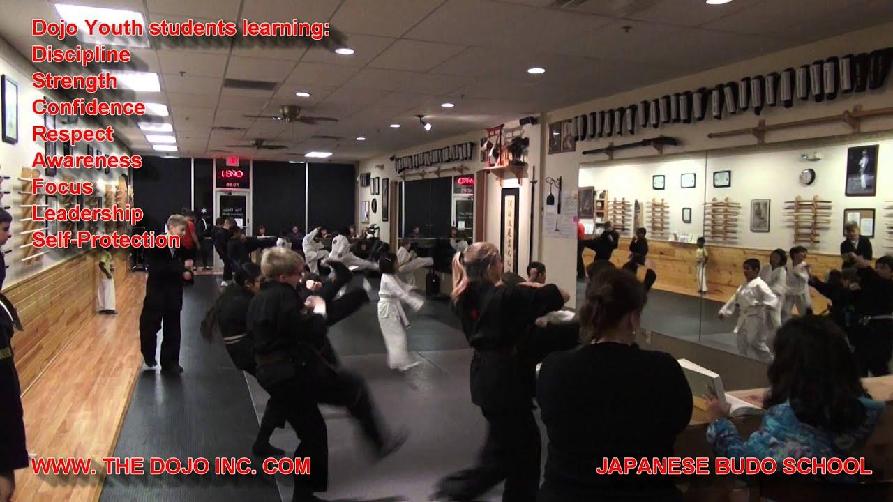 Ninjutsu Youth Students Training At The Dojo Martial Arts School