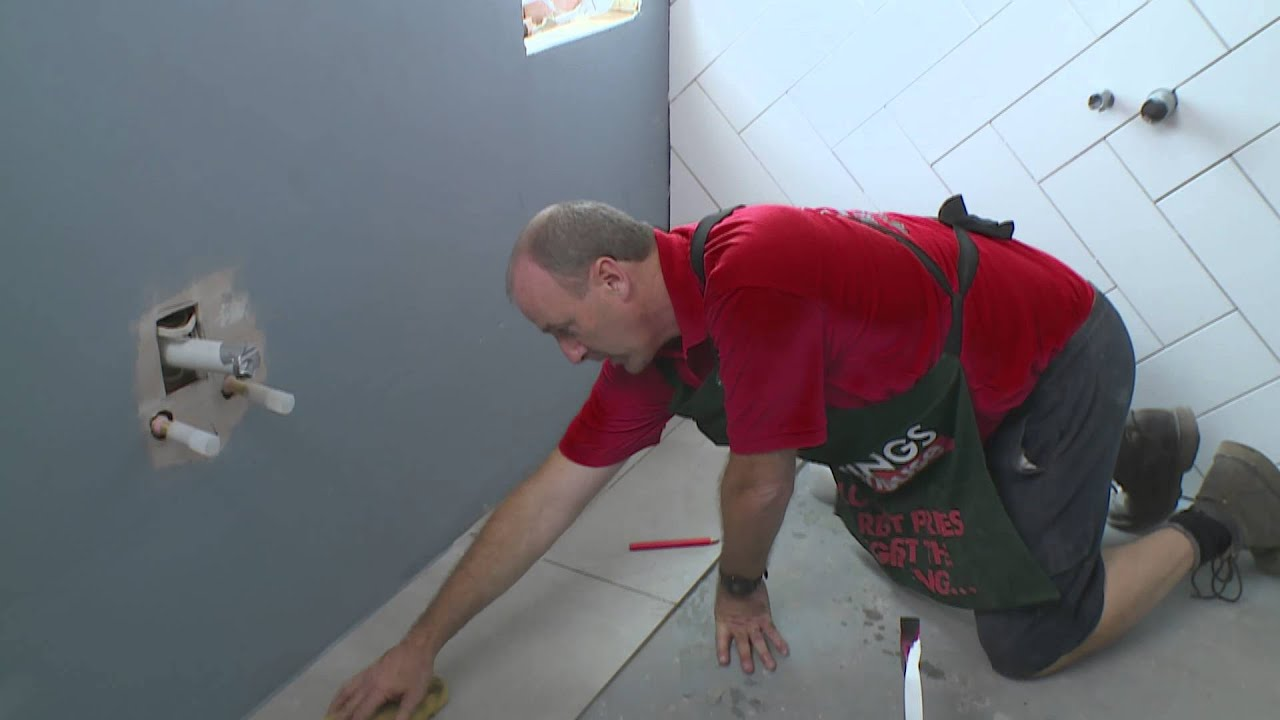 How To Lay Floor Tiles DIY At Bunnings YouTube - Place and press floor tiles