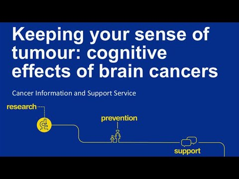 Webinar: Cognitive effects of brain cancers