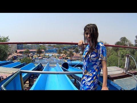 Scary Blue Water Slide at Fun N Food Village