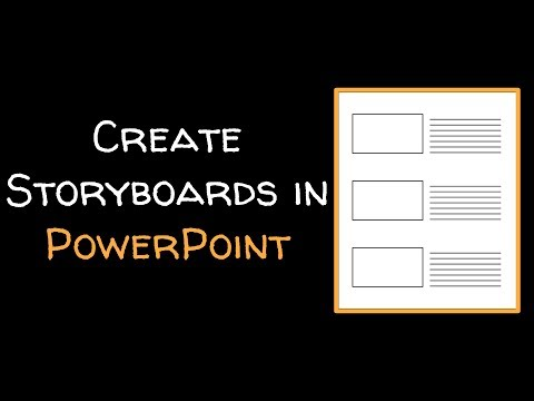Create a storyboard template in PowerPoint - YouTube