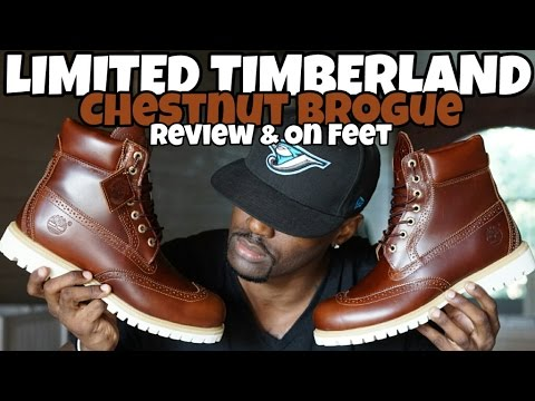 limited timberland chestnut quartz brogue review on feet youtube