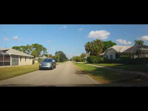 Driving through the Oakwood Community - Lehigh Acres, Florida
