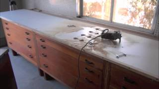 Building Custom Melamine COUNTER TOP for Work Bench / Work Station in the Work Shop part 3