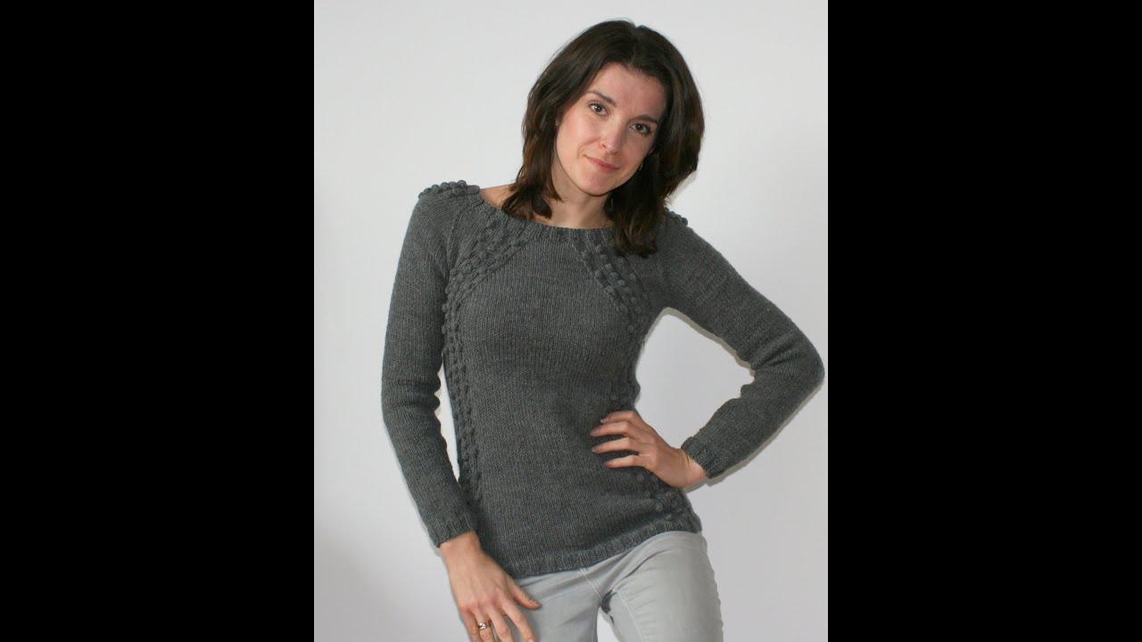 Фото серого свитера. Вязаный свитер JKnitting - YouTube