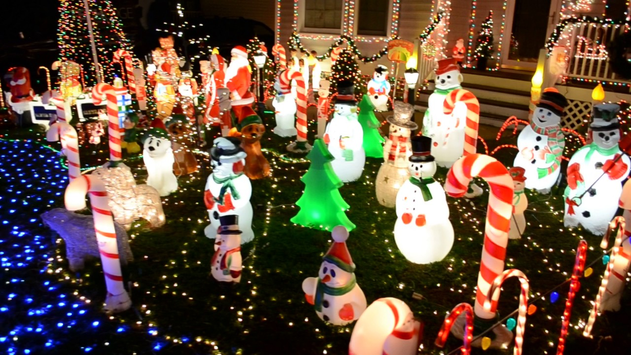 2016 christmas lights display 30000 lights 160 blow molds - Christmas Blow Mold
