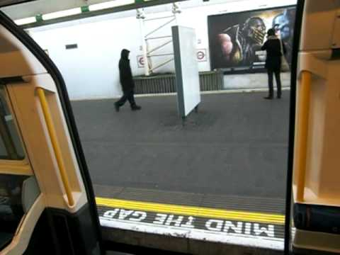 Mind the gap! Entering a train on London's underground Piccadilly line