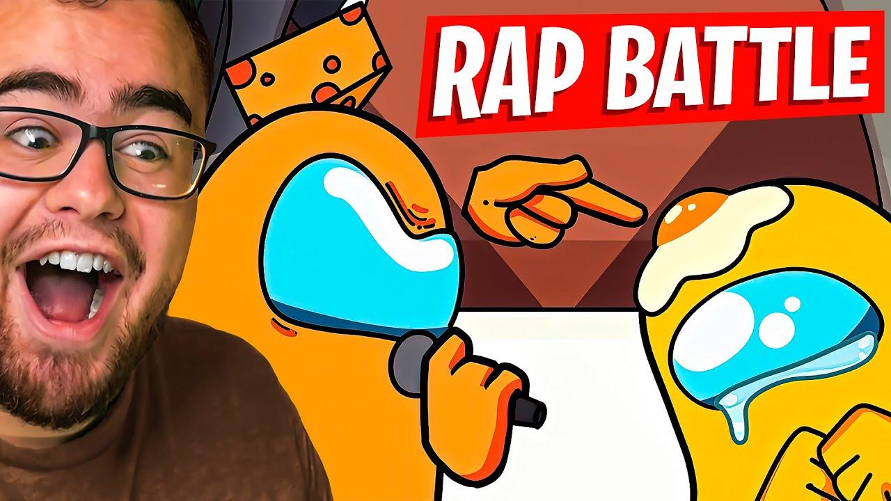 Reacting to the AMONG US Rap Battle!