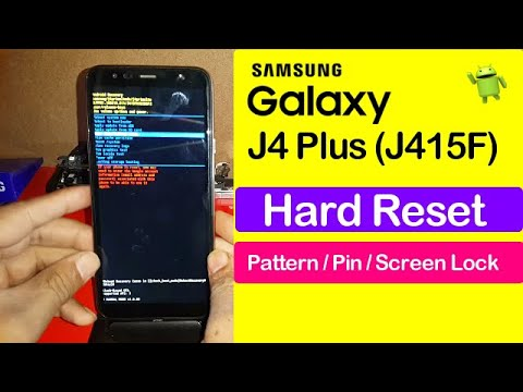 Samsung Galaxy J4 Plus SM J415F Hard Reset Pattern Lock Screen Lock Remo...