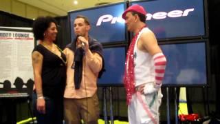 India M. (India Mendelsohn), Barnacle Bill (Bill Murray) Video Lounge 2010