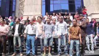 رصد | وقفة احتجاجية للصحفيين المعتصمين رفضًا لاقتحام النقابة أمس