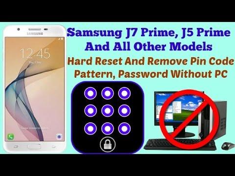 Hard Reset Glaxay J7 Prime, J5 Prime Remove Pattern - Done