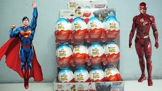 Justice league Full box of kinder Joy surprise Batman ,Superman Green, Lantern toys Eggs