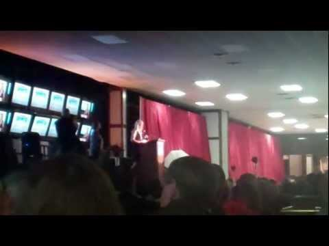Jennie Finch at Chicagoland Sports Hall of Fame 9.19.12
