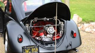 1960 VW Ragtop Beetle 2332cc engine running