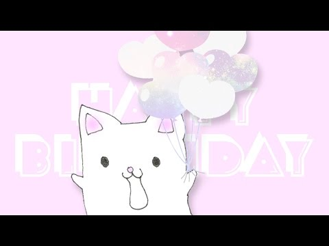 Happy Birthday eCard Video★Cute Cat Saying Birthday Wishes