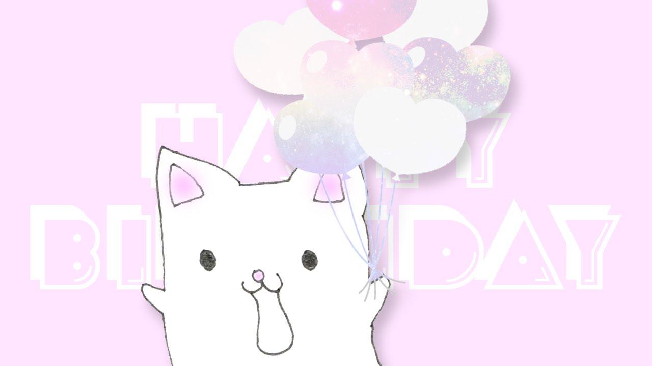 Happy Birthday ECard VideoCute Cat Saying Birthday Wishes