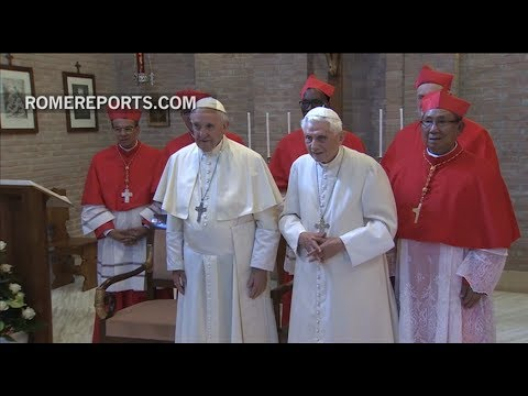Benedict XVI receives the new cardinals, and speaks with them in various languages